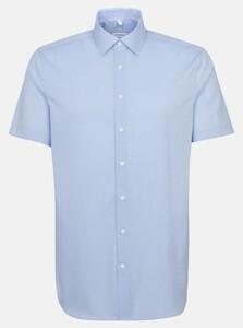 Seidensticker Uni Kent Short Sleeve Overhemd Licht Blauw