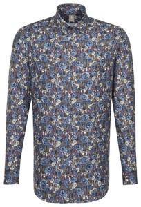 Jacques Britt Flanel Floral Fantasy Donker Blauw