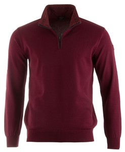 Paul & Shark Three-in-One Compact Technology Wool Donker Rood Melange