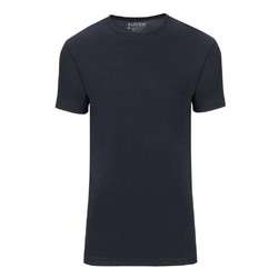 Slater Basic Fit Extra Long 2-pack T-shirt T-Shirt Navy