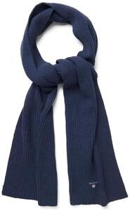 Gant Wool Knit Scarf Navy