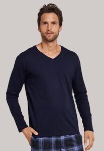 Schiesser Mix & Relax T-Shirt V-Neck Donker Blauw