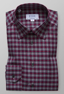 Eton Check Flannel Shirt Roodroze