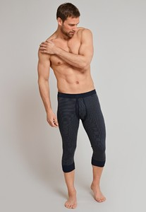 Schiesser Feinripp Melange Long Johns 3/4 Dark Evening Blue