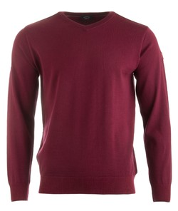 Paul & Shark Three in One Cool Touch Wool V-Neck Bordeaux