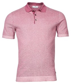Thomas Maine All Over 2Color Jacquard Structure Knit Polo Roze