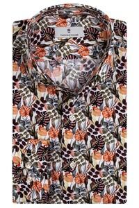 Thomas Maine Bari Cutaway Eden Pattern by Texta Overhemd Bordeaux