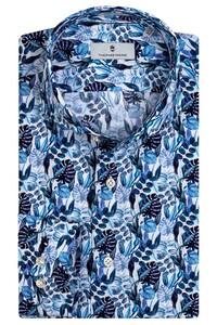 Thomas Maine Bari Cutaway Eden Pattern by Texta Overhemd Navy