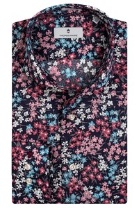 Thomas Maine Bari Cutaway Multi Flower Fantasy by Liberty Overhemd Roze