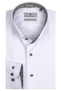 Thomas Maine Bari Cutaway Two Ply Twill Bold Contrast Shirt White-Green