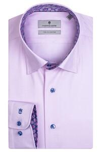 Thomas Maine Bergamo Hidden Button Down Two Ply Twill Uni Bold Contrast Shirt Pink-Cyclamen