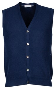 Thomas Maine Buttons Fine Structure Knit Gilet Navy