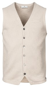 Thomas Maine Buttons Front Structure Knit Gilet Beige