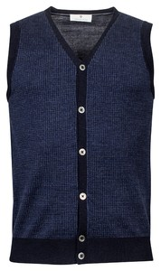 Thomas Maine Buttons Single Knit Gilet Navy
