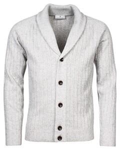 Thomas Maine Cardigan Buttons Structure Knit Vest Licht Grijs