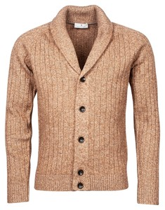 Thomas Maine Cardigan Buttons Structure Knit Vest Taupe