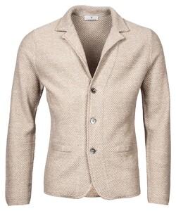 Thomas Maine Cardigan Jacket Buttons Structure Knit Vest Beige