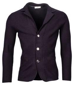Thomas Maine Cardigan Jacket Buttons Structure Knit Vest Navy