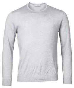 Thomas Maine Crew Neck Pullover Merino Wool Pullover Light Grey