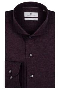 Thomas Maine Cutaway Cotton Cashmere Twill Overhemd Burgundy