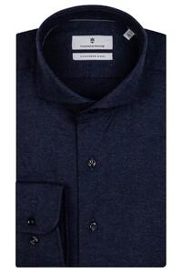 Thomas Maine Cutaway Cotton Cashmere Twill Overhemd Navy