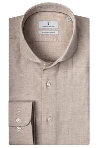 Thomas Maine Cutaway Cotton Cashmere Twill Overhemd Zand