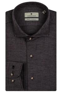 Thomas Maine Herringbone Cotton Overhemd Grijs