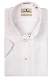 Thomas Maine Linnen Melange Modern Kent Overhemd Optical White