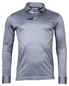 Thomas Maine Long Sleeve Vanise Jersey Polo Licht Blauw