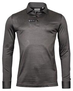 Thomas Maine Long Sleeve Vanise Jersey Polo Midden Grijs