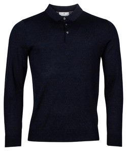 Thomas Maine Merinowol Single Knit Trui Navy
