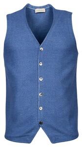 Thomas Maine Milano Knit Gilet Denim Blue