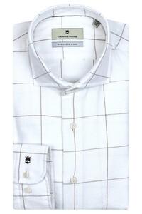 Thomas Maine Modern Kent Cotton Cashmere Overhemd Off White
