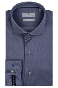 Thomas Maine Modern Kent Vanise Jersey Overhemd Blauw