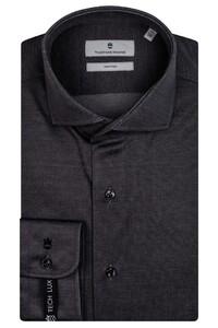 Thomas Maine Modern Kent Vanise Jersey Overhemd Grijs
