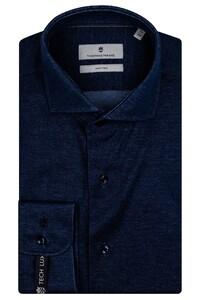 Thomas Maine Modern Kent Vanise Jersey Overhemd Navy