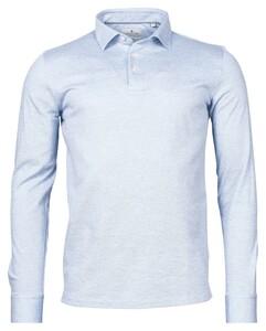 Thomas Maine Pisa Jersey Piqué Long Sleeve Poloshirt Light Blue