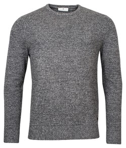 Thomas Maine Plain Knit Pullover Lambswool Mix Trui Anthra