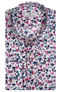 Thomas Maine Roma Modern Kent Abstract Floral Pattern by Liberty Overhemd Roze