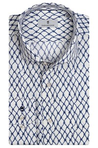 Thomas Maine Roma Modern Kent Nautical Pattern by Liberty Overhemd Wit