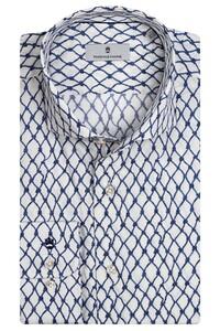 Thomas Maine Roma Modern Kent Nautical Pattern by Liberty Shirt White