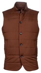 Thomas Maine Uni Button Bodywarmer Body-Warmer Dark Brown Melange