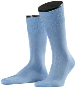 Falke No. 9 Socks Egyptian Karnak Cotton Blue