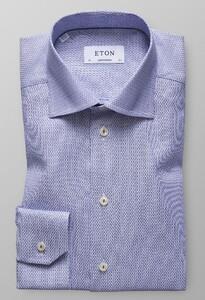 Eton Geometric Shirt Diep Blauw