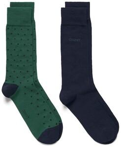 Gant 2Pack Dot And Solid Socks Leaf Green