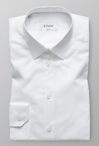 Eton Fine Twill Stretch Super Slim Wit