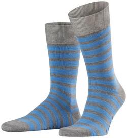 Falke Even Stripe Sock Midden Grijs