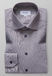 Eton Sky Blue Oxford Shirt Diep Bruin