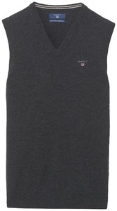 Gant Super Fine Lambswool Slip-Over Dark Gray