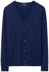 Gant Fine Merino Vest Avond Blauw